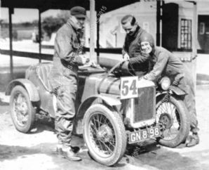 AUSTIN 7 TT Hon Victoria Worsley/R Latham Boote  Brooklands Double-12 1931